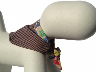 fabulous houndstooth design dog bandana in brown and black