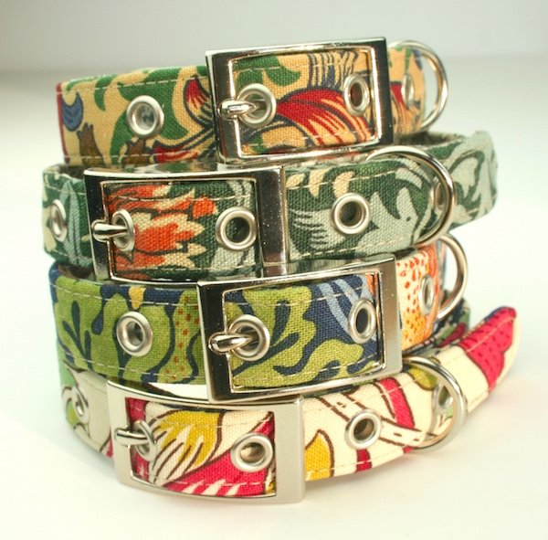 William Morris Design Dog Collars by BlossomCo