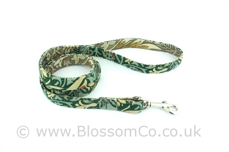 Dog lead by BlossomCo in William Morris Snakeshead design